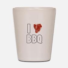 I Heart BBQ Shot Glass