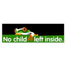 No Child Left Inside Bumper Car Sticker