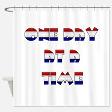 one day at a time rwb~2000x2000.png Shower Curtain
