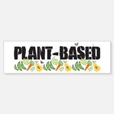 plant-based2-wht.png Sticker (Bumper)