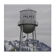 Palmer Town, Alaska Water Tower Tile Coaster