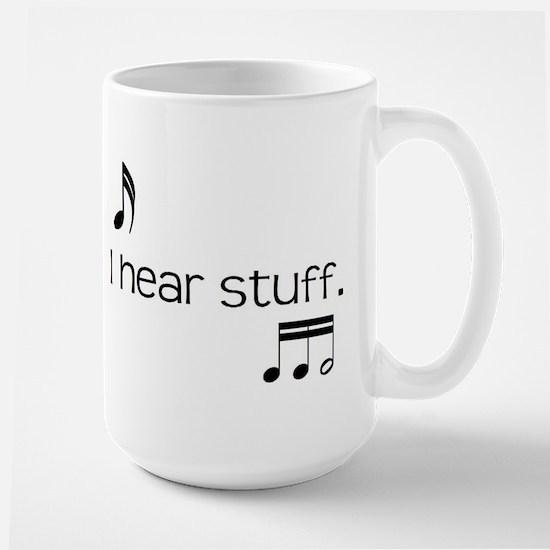i hear stuff Mugs