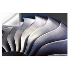 S-curve fan blades Wall Decal