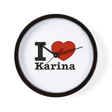 I Love Karina Wall Clock