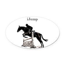 Fun iJump Equestrian Horse Oval Car Magnet