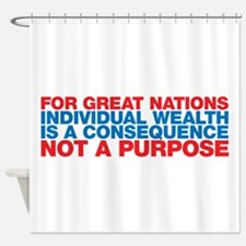 WealthConsequence Shower Curtain
