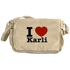 I Love Karli Messenger Bag