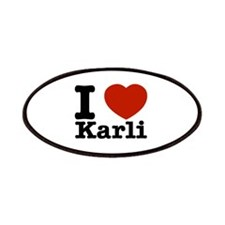 I Love Karli Patches