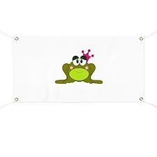 Frog Princess Pink Crown Banner
