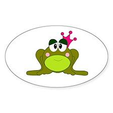 Frog Princess Pink Crown Decal
