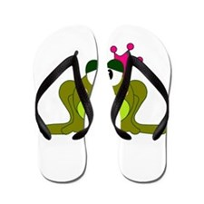 Frog Princess Pink Crown Flip Flops