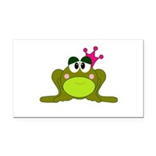 Frog Princess Pink Crown Rectangle Car Magnet