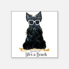 "Scottie Beach Square Sticker 3"" x 3"""