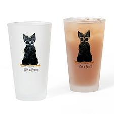 Scottie Beach Drinking Glass
