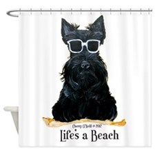 Scottie Beach Shower Curtain