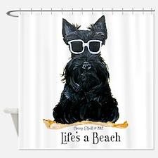 Scottie Beach Shower Curtain