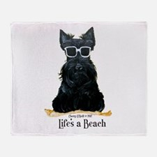 Scottie Beach Throw Blanket