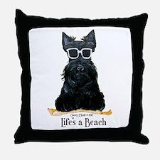 Scottie Beach Throw Pillow