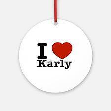 I Love Karly Ornament (Round)