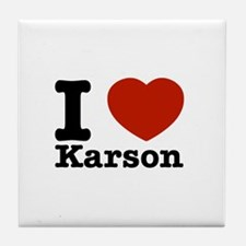 I Love Karson Tile Coaster