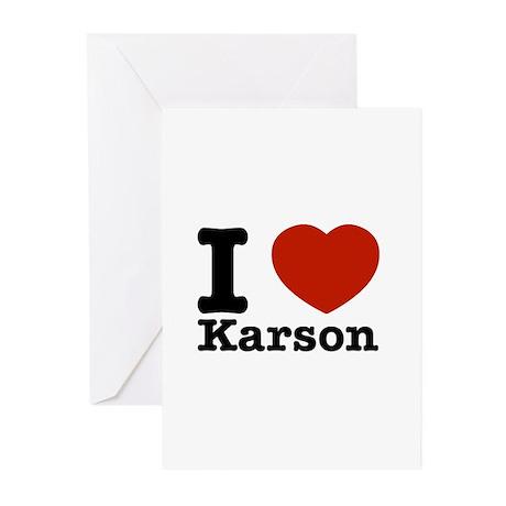 I Love Karson Greeting Cards (Pk of 10)