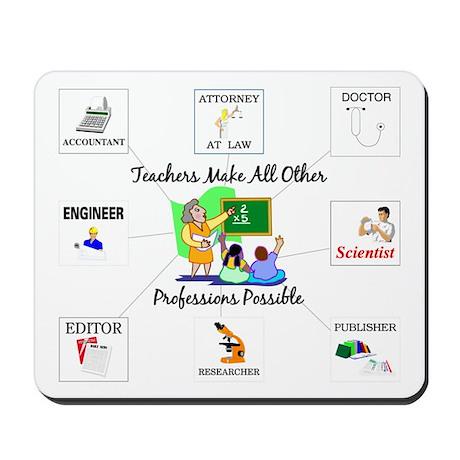 Teachers Make All Other Profe Mousepad