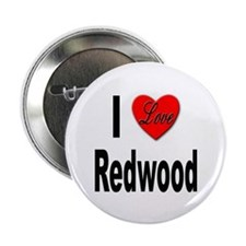 I Love Redwood Button