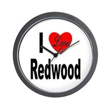 I Love Redwood Wall Clock