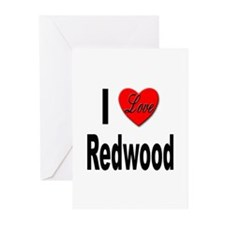 I Love Redwood Greeting Cards (Pk of 10)
