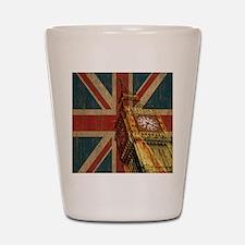 Vintage Union Jack Shot Glass
