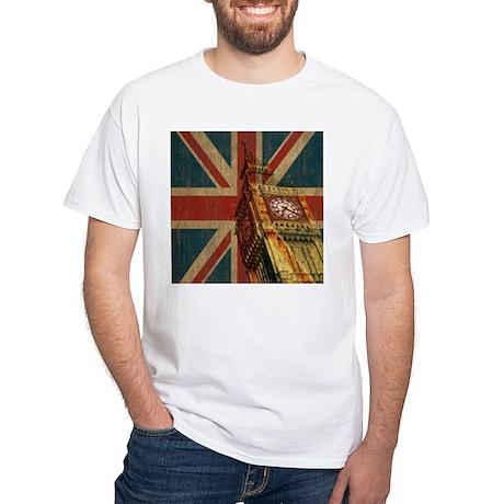 Vintage Union Jack White T-Shirt