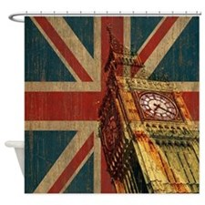Vintage Union Jack Shower Curtain