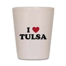 I Love Tulsa Oklahoma Shot Glass