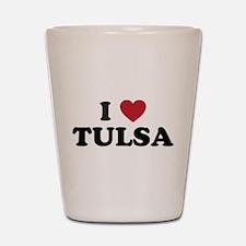 I Love Tulsa Oklahoma Shot Glass