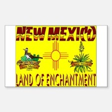 New Mexico USA Rectangle Decal