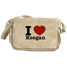 I Love Keegan Messenger Bag