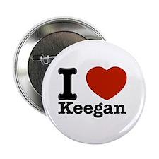 "I Love Keegan 2.25"" Button (100 pack)"