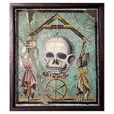 Roman memento mori mosaic Poster