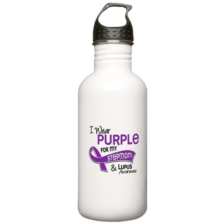 I Wear Purple 42 Lupus Stainless Water Bottle 1.0L