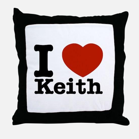 I Love Keith Throw Pillow
