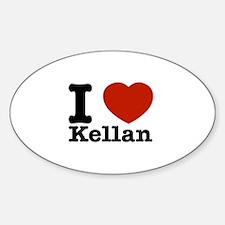 I Love Kellan Decal