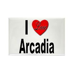 I Love Arcadia Rectangle Magnet