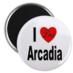 I Love Arcadia Magnet