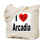 I Love Arcadia Tote Bag