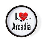 I Love Arcadia Wall Clock