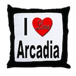 I Love Arcadia Throw Pillow