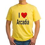I Love Arcadia Yellow T-Shirt