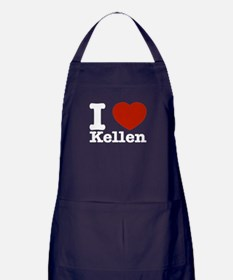 I Love Kellen Apron (dark)