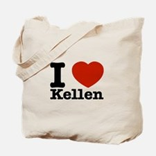 I Love Kellen Tote Bag