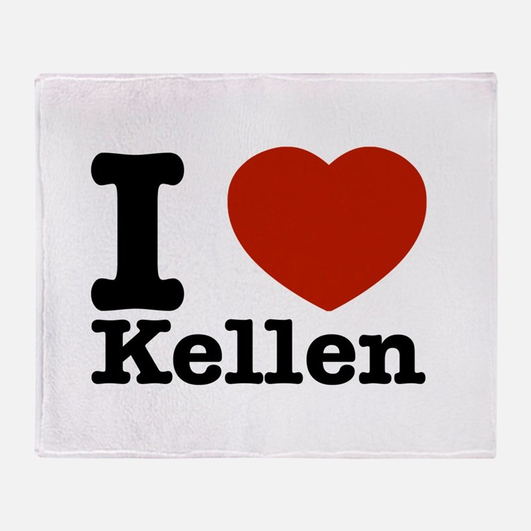 I Love Kellen Throw Blanket